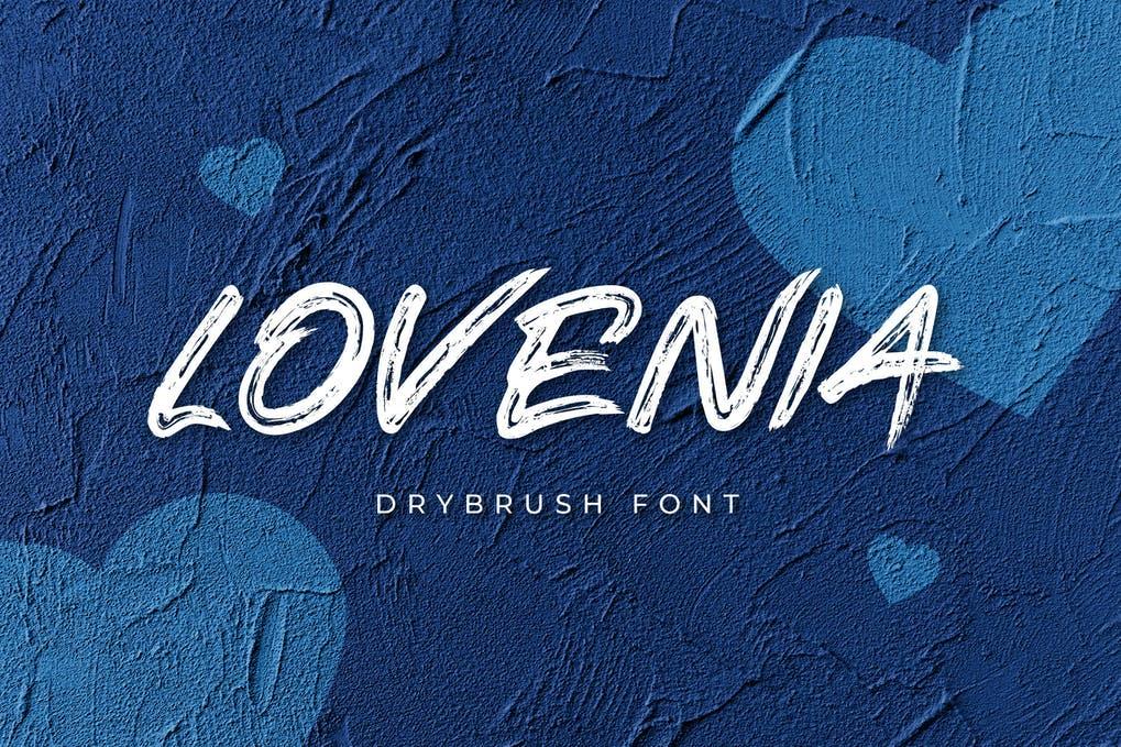 Lovenia Brush Font