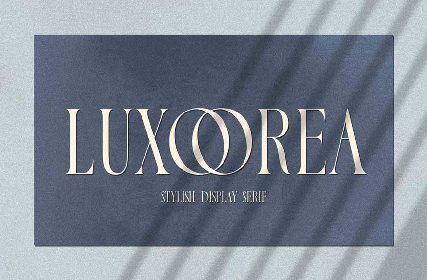 Luxoorea - Stylish Display Serif