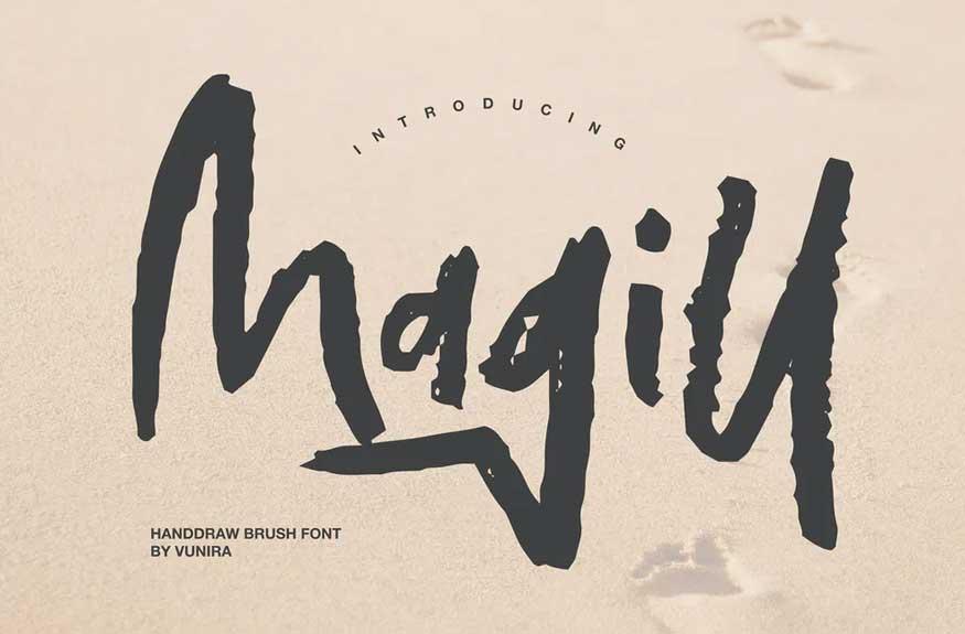 Magill | Handdraw Brush Font