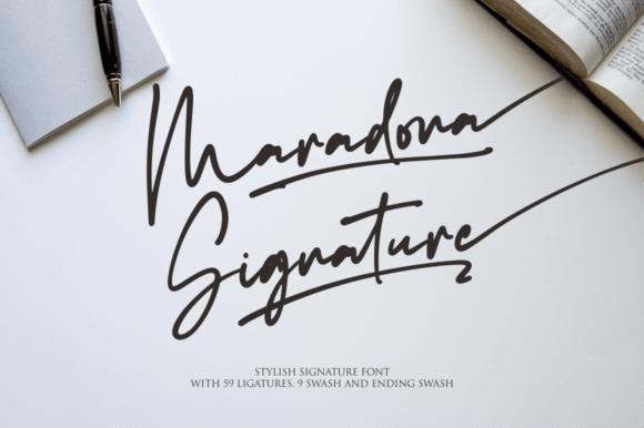 Maradona Signature Font