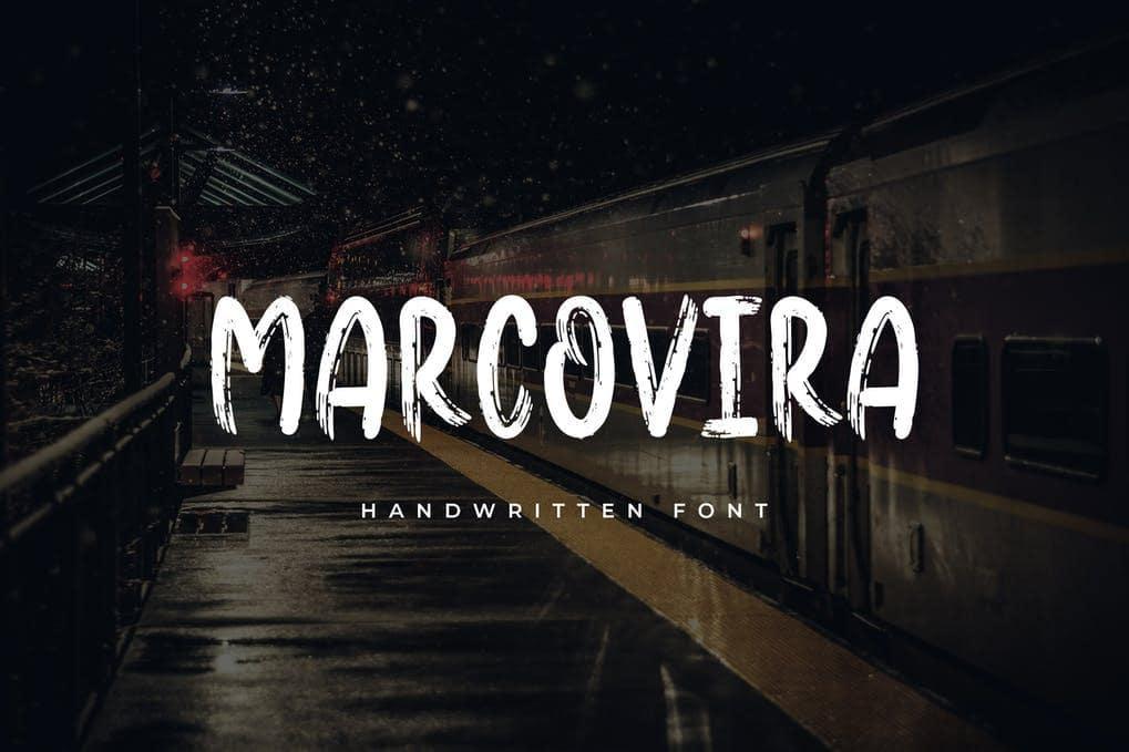 Marcovira Brush Font