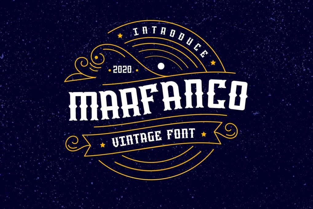 Marfanco Serif Display Font