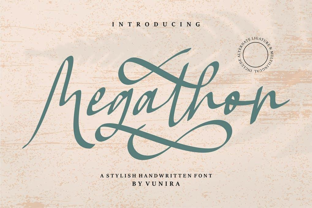 Megathon   A Stylish Handwritten Font