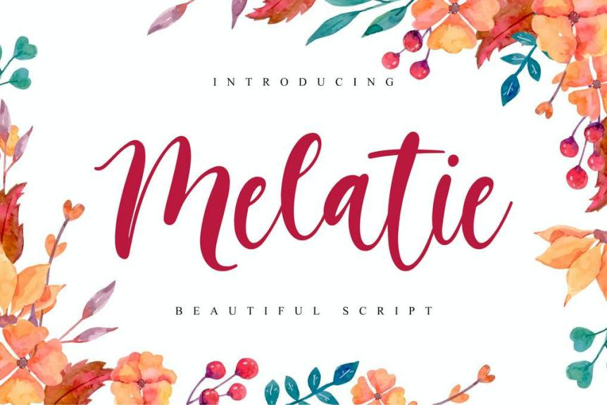 Melatie - Beautiful Script