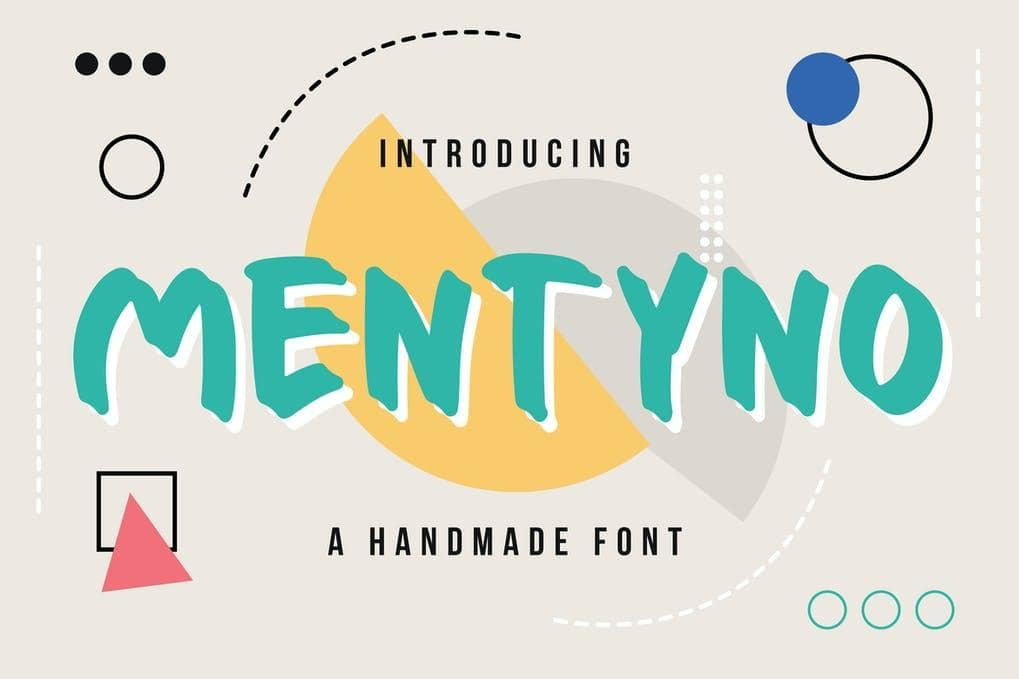 Mentyno - A Handmade Font