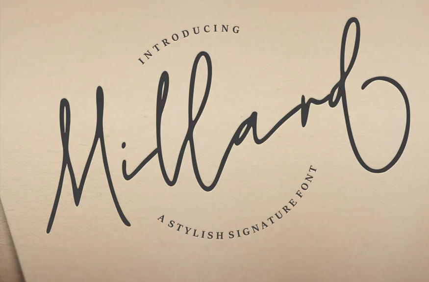 Millard   A Stylish Signature Font