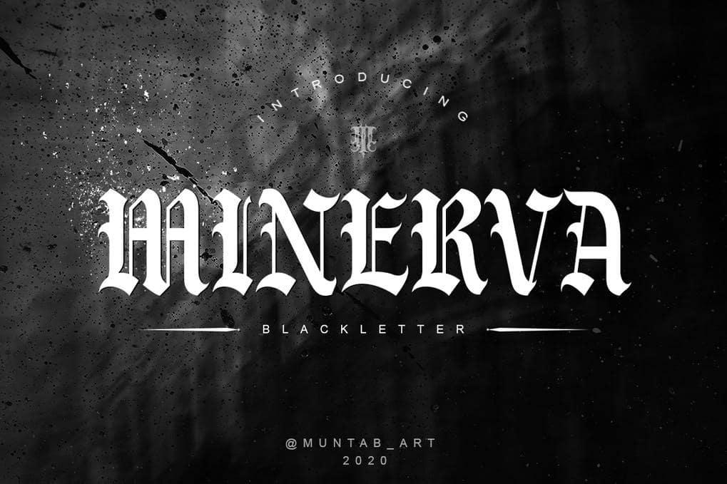 Minerva Blackletter Font
