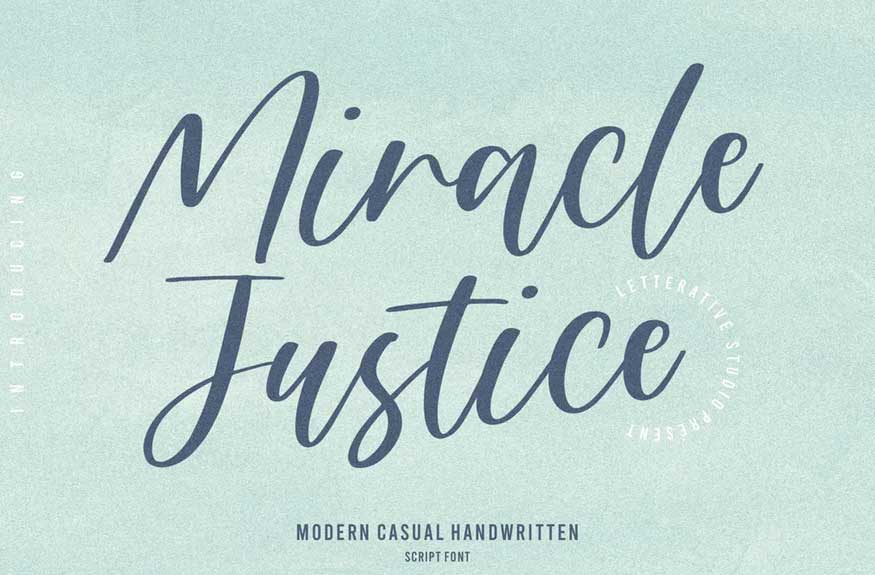Miracle Justice Script Font