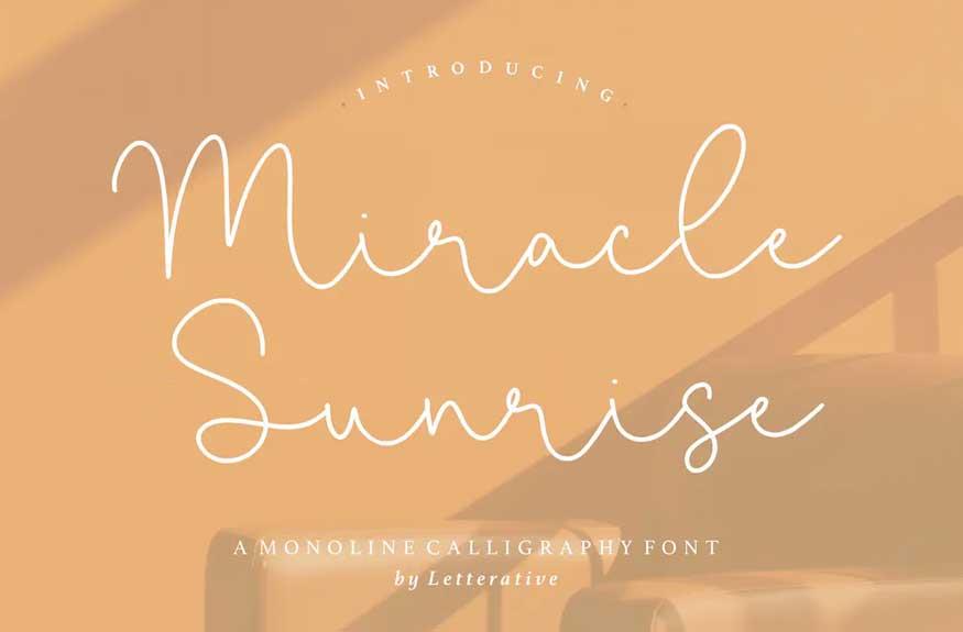 Miracle Sunrise Script Font