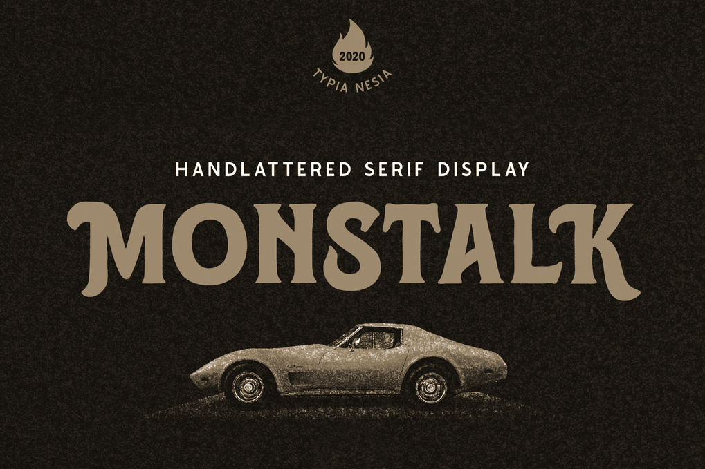Monstalk Handlettered Vintage Display Serif