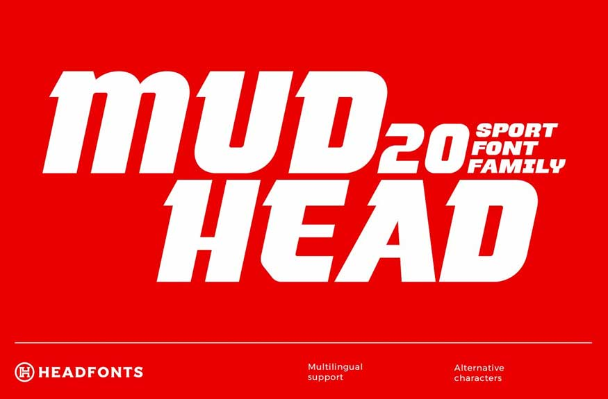 Mudhead Family | Sports Display Font
