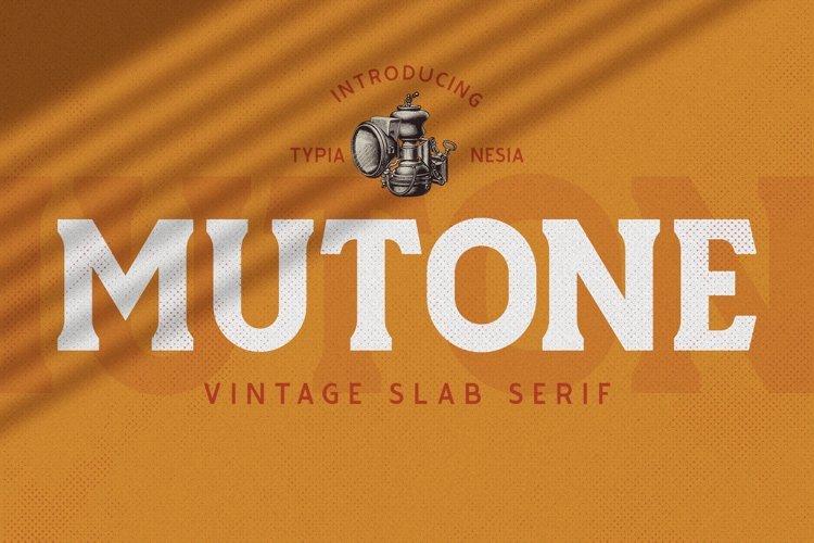 Mutone Font
