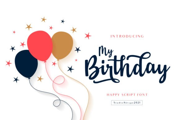 My Birthday Font