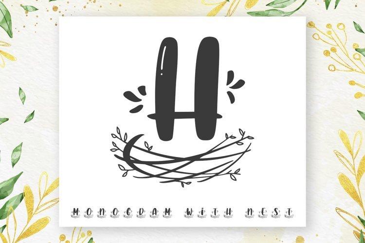 Nest Monogram Font