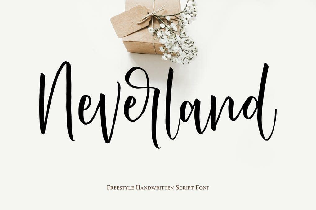 Neverland Handwritten Script Font