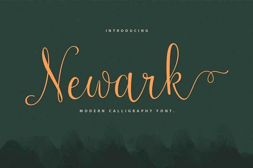 Newark Script Calligraphy Font