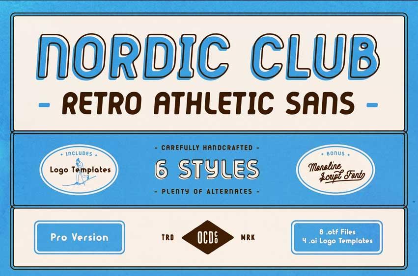Nordic Club - Retro Athletic Sans