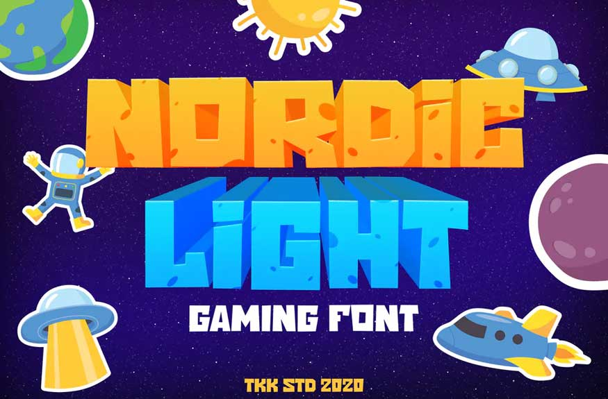 Nordic Light - Gaming Font