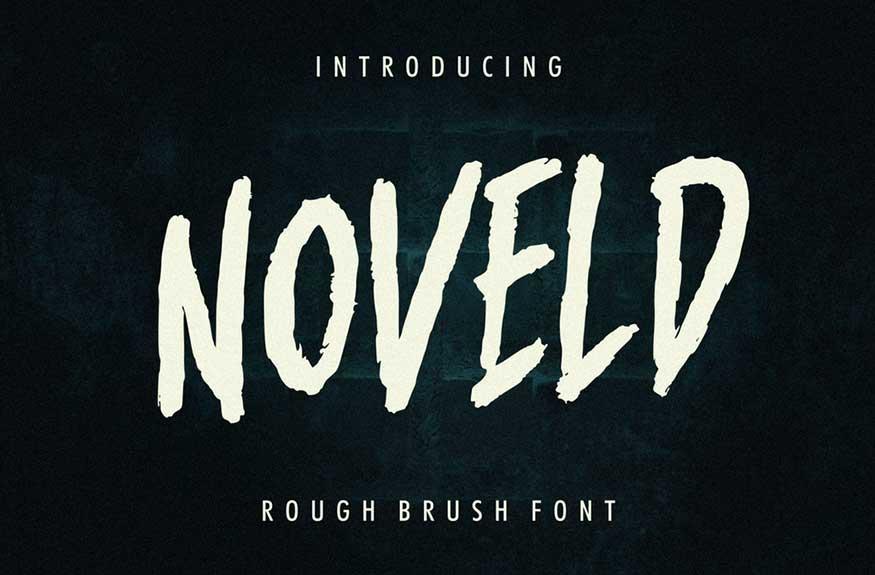 Noveld Horror Brush Font