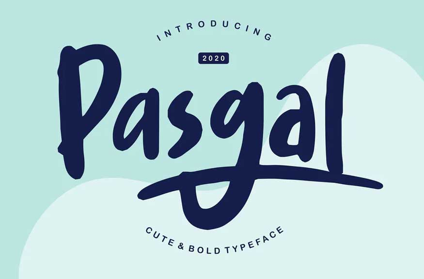 Pasgal | Cute & Bold Typeface