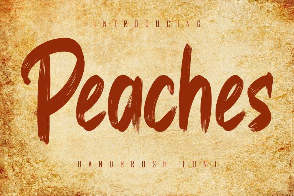 Peaches Font