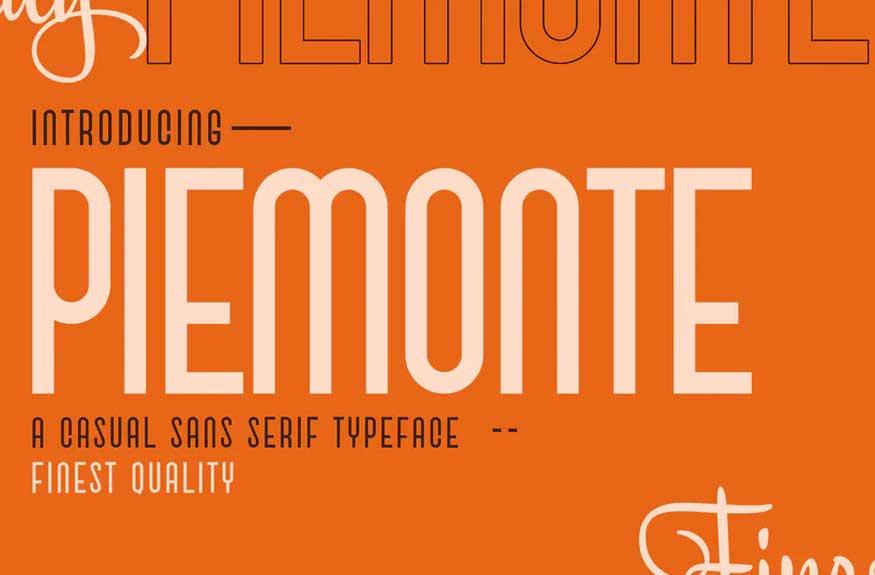 Piemonte - Casual Sans Serif Font