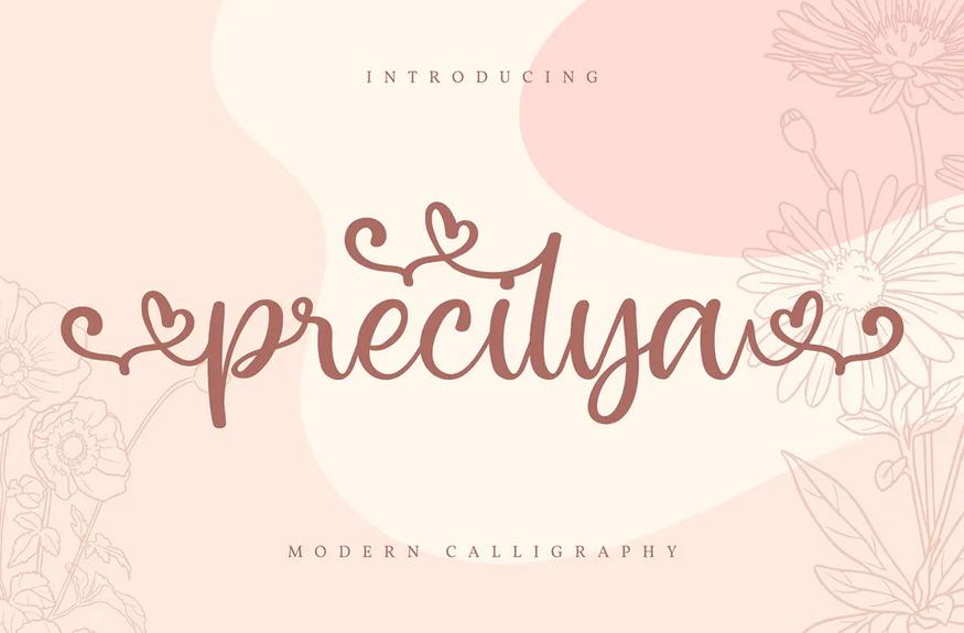 Precilya | Modern Calligraphy Font
