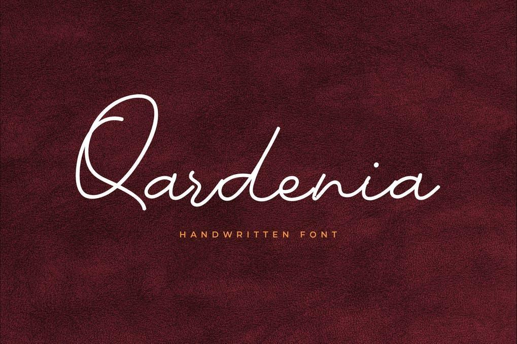 Qardenia Signature Font
