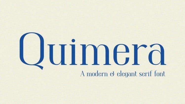Quimera Serif Font