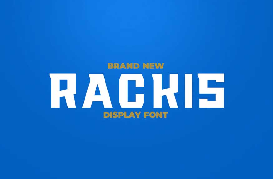 RACKIS Display Font