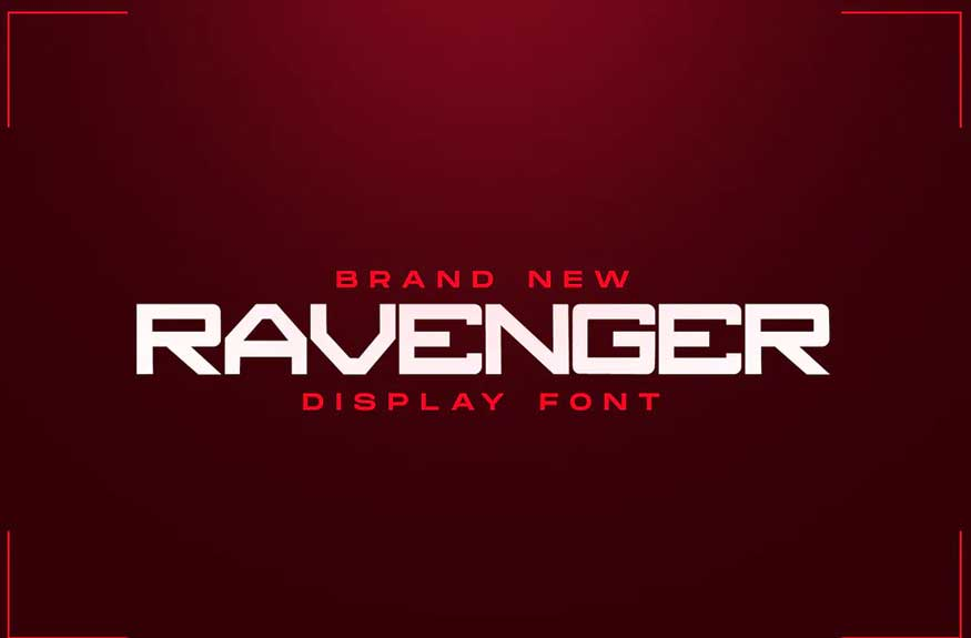 RAVENGER Exclusive Display Font