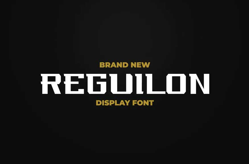 REGUILON SPORT Display Font