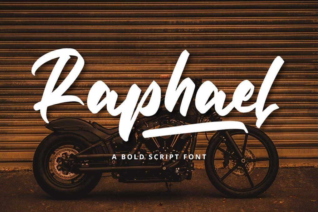 Raphael Bold Script font