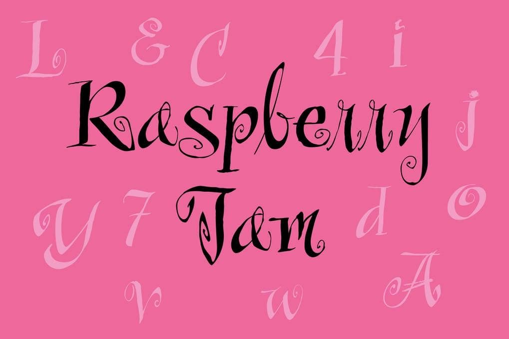 Raspberry Jam Font