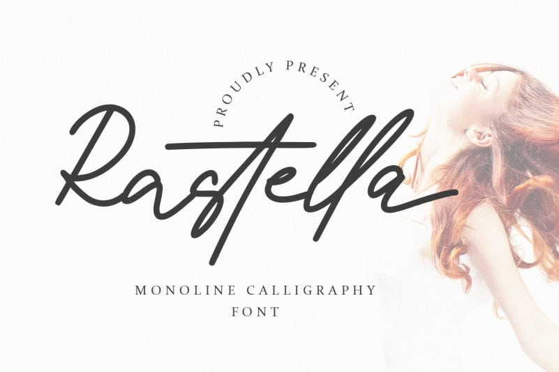 Rastella – Monoline Calligraphy Font