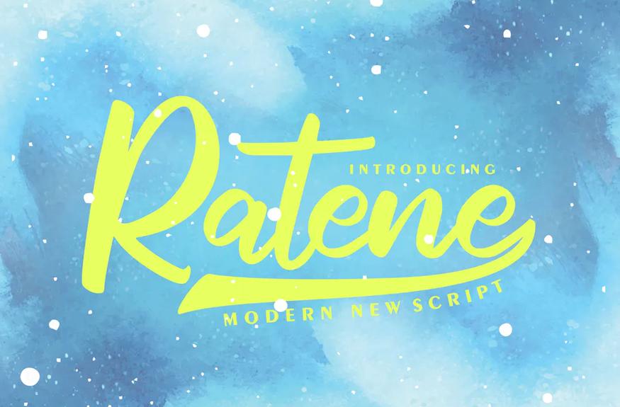 Ratene | Modern New Script