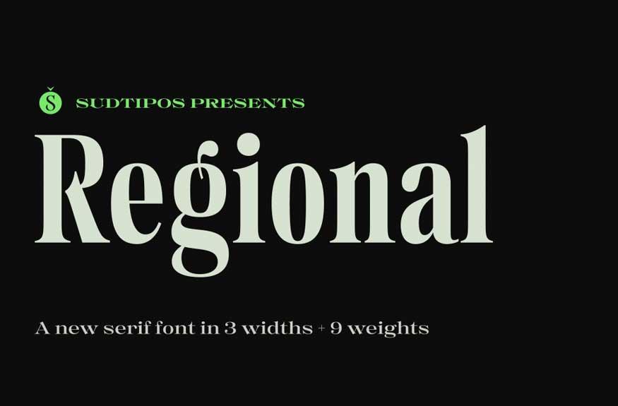Regional Font Family