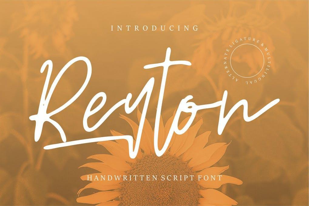 Reyton Handwritten Script Font