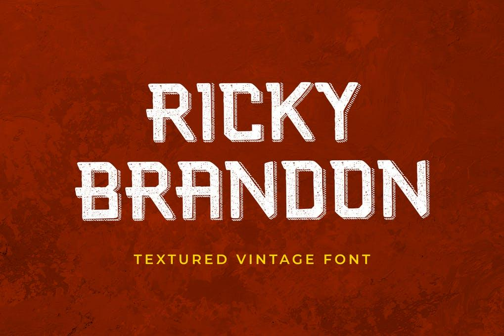 Ricky Brandon Serif Display Font