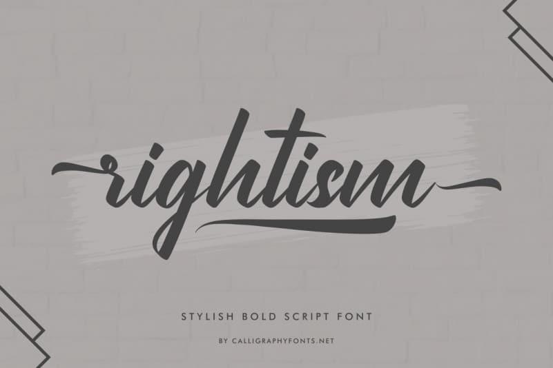 Rightism Script Font