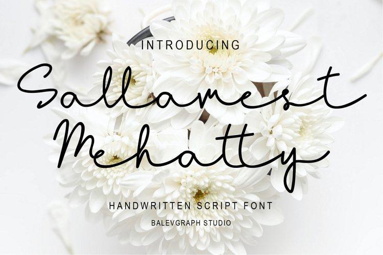 Sallamest Handwritten Script Font
