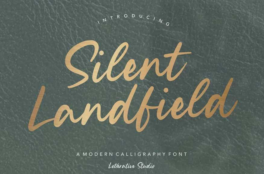 Silent Landfield Script Font
