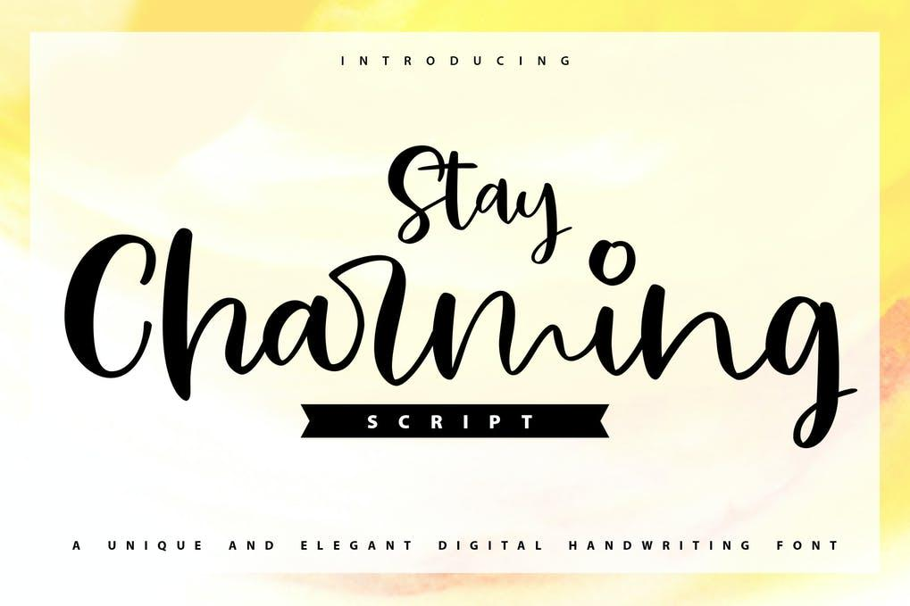 Stay Charming Script Handwriting Font