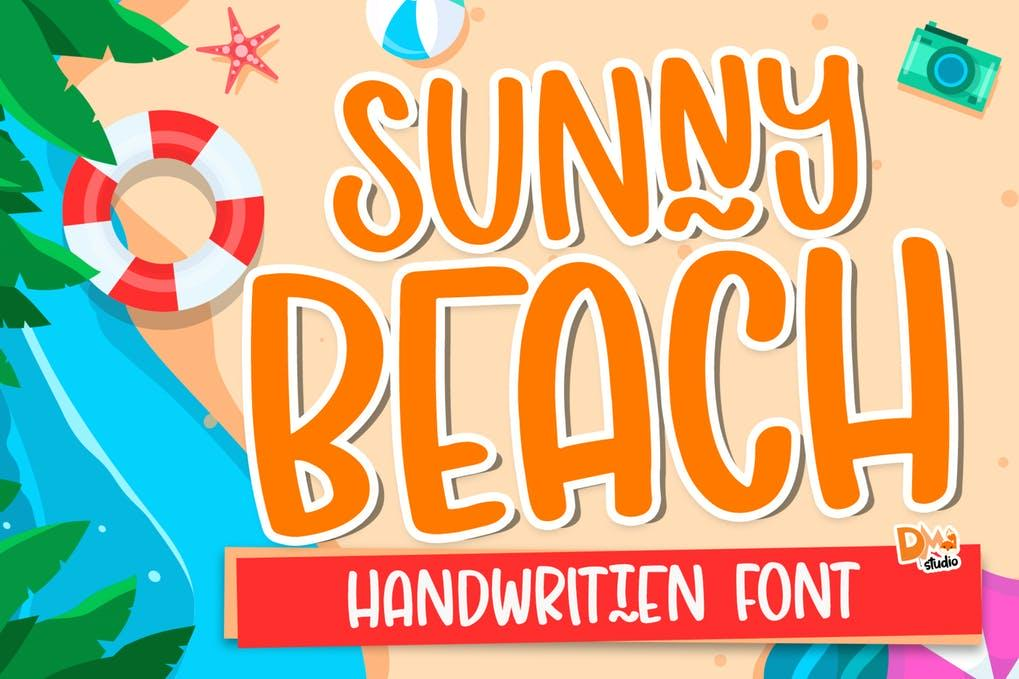 Sunny Beach - Crafty Handwritten Font