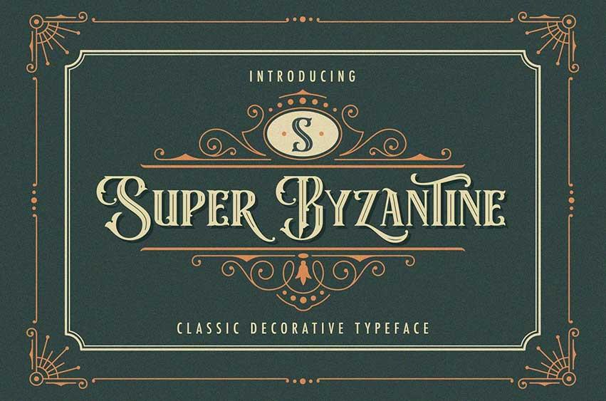 Super Byzantine - Decorative Font