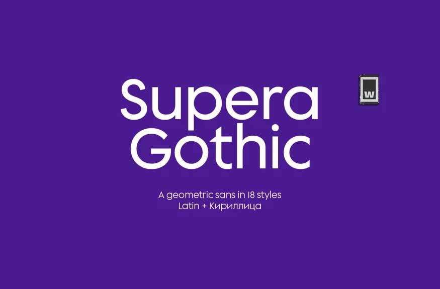 Supera Gothic Font Family