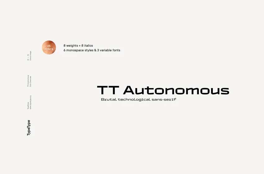 TT Autonomous Font Family