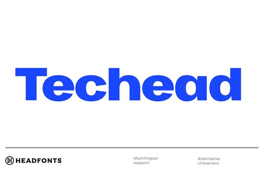 Techead Font