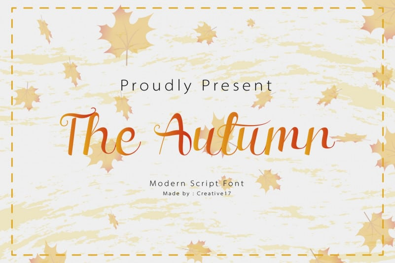 The Autumn Calligraphy Font