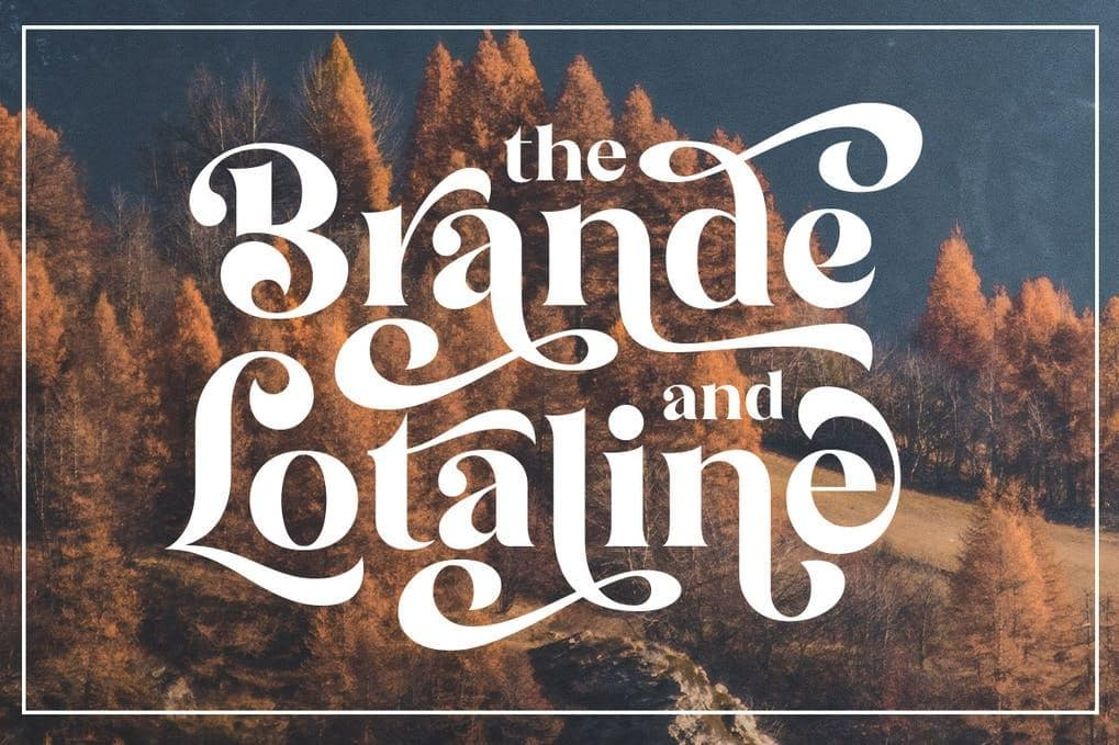 The Brande and Lotaline Font